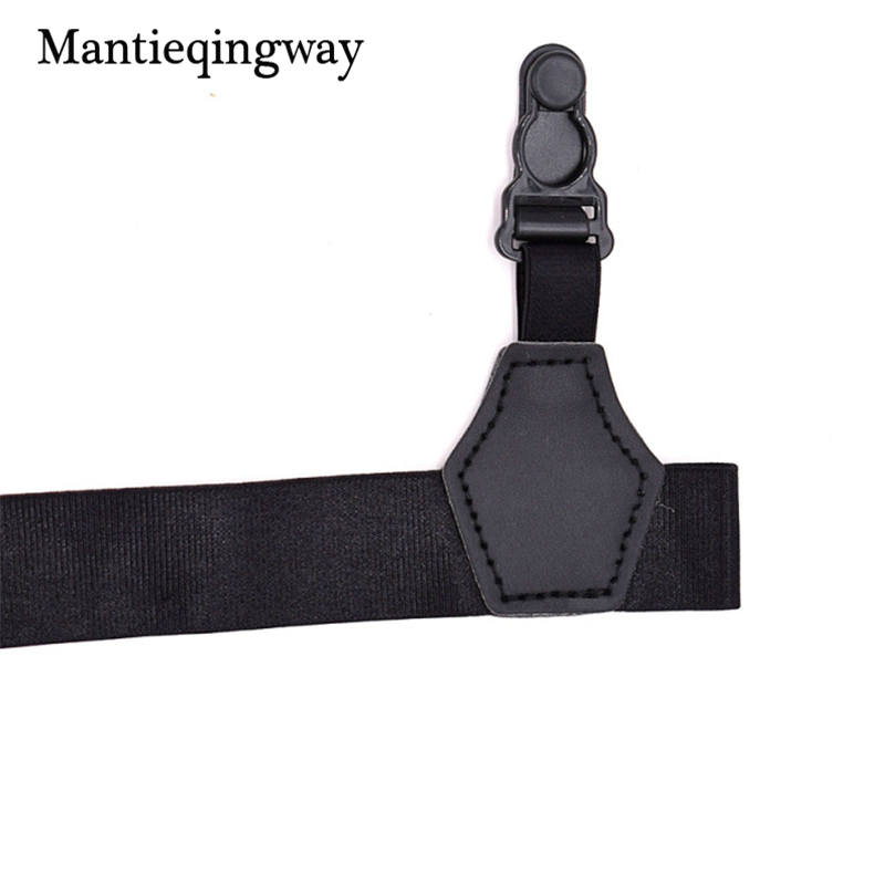a44430572c0 Mantieqingway Mens Adjustable Sock Stay Holder Suspender for Mens Women Leg  Shirt Crease Resistance Socks Garters Belts-in Suspenders from Apparel ...