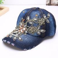 Automne en gros de mode Denim couple marque ny coton casquette de baseball de chapeau de sport toile Snapback casquettes chapeau pour les femmes bonne qualité