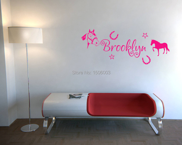 Aliexpresscom Buy Personalized Name With Horses Wall Art Vinyl - Vinyl wall decals home party