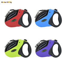 4 Colors 5M 50KG Dog Retractable Leash ABS Automatic Large Big Walking Lead