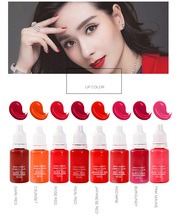8 Color Microblading Permanent Make-Up Pigment Fastness Professional Lip Tattoo Ink Set Lipstick