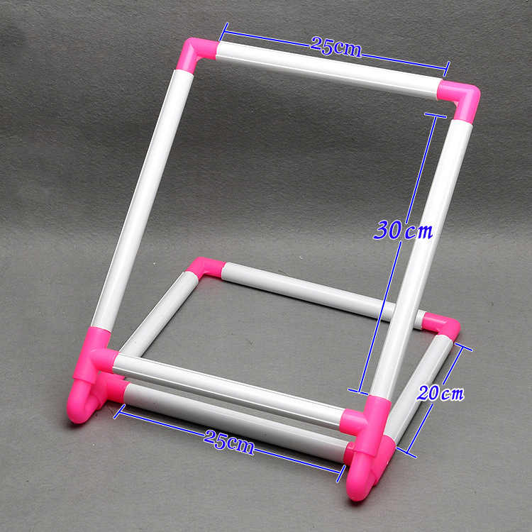 Tambour Embroidery Frame Practical Plastic Cross Stitch Hoop Stand Holder Support Rack
