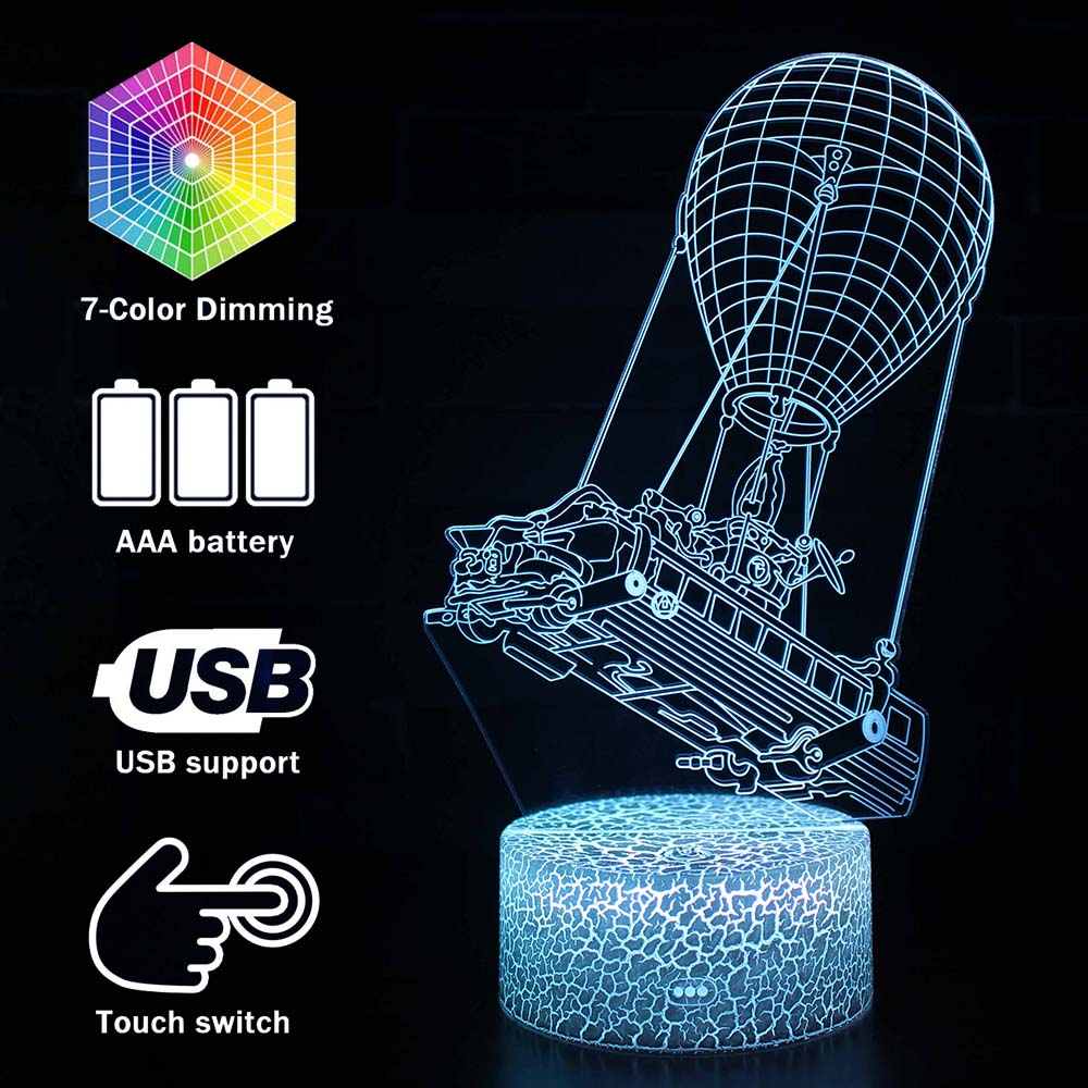 Magiclux Novelty Lighting 3D Illusion LED Lamp Fortress Night Lights For Kids Bedroom Decoration Battle Royale Creative Lamps