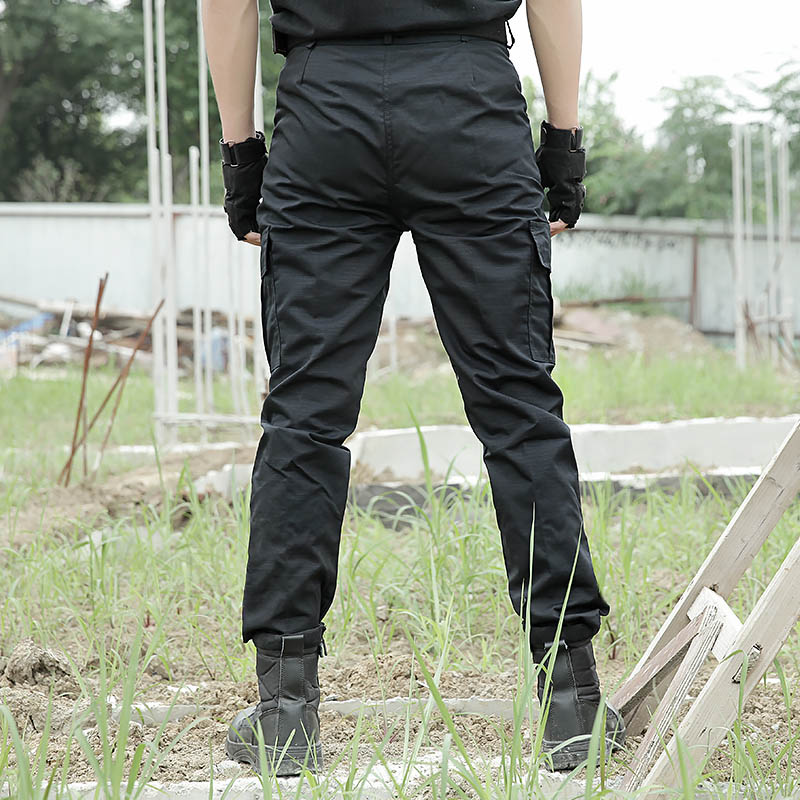 Mens Combat Tactical Cargo Forces Work Army Pants Military Black Green Trousers