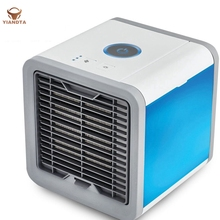 Mini Air Cooler Air Conditioner Desktop Portable Lighted USB Fan