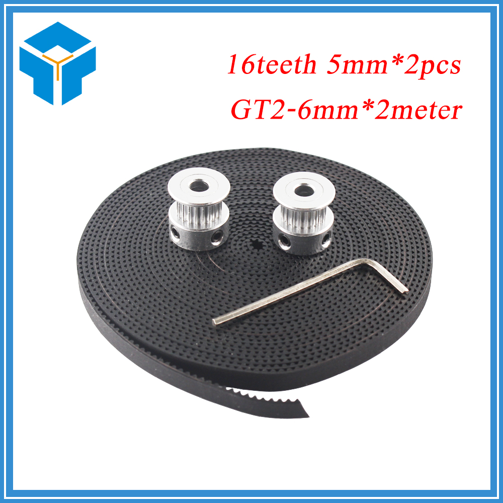 hot-3d-printer-parts-accessory-2pcs-gt2-16teeth-16-teeth-timing-alumium-pulley-bore-5mm-width-6mm-with-2meters-2m-6mm-gt2-belt