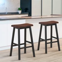 "29"" H Dining Room Set of 2 Bar Stools Pub Chair Modern Elegant Design Comfy Sitting High Quality Bar Chair Furniture HW58979(China)"