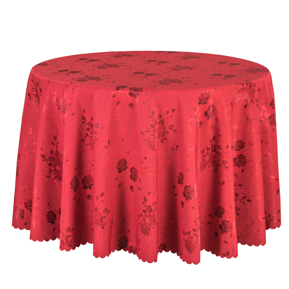 1PCS Floral Jacquard Table Linen Red Round Tablecloths Rose Hotel Party  Wedding Table Cover Decor Dining Table Cloth Rectangular In Tablecloths  From Home ...
