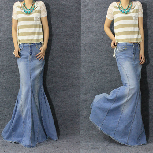 Stretch Jean Skirt - Dress Ala