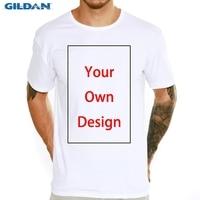 Индивидуальные мужские футболки с индивидуальным принтом, ваш собственный дизайн, мужские и детские повседневные топы, футболки, эластична...
