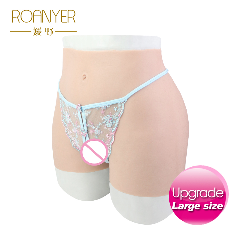 Roanyer pant large size with fake penetrable vagina artificial realistic silicone fits crossdresser transgender transsexual