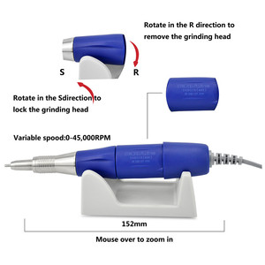 Image 4 - 45K New Arrival STRONG 210 plus PRO 105 105L Handpiece 65W 45000rpm Nail Drills Manicure Machine Pedicure Electric File Bits