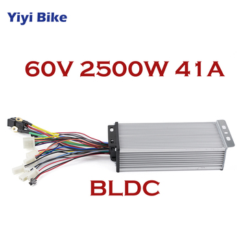 60V 2500W DC Controller Electric Bike Brushless Motor Controller 41A 18 Mosfet With Sensor Hall For Electric Bike Car Motorcycle