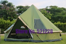 On sale 5-8 person Mongolia yurt family travel hiking anti mosquito sun shelter awning canopy beach fishing outdoor camping tent