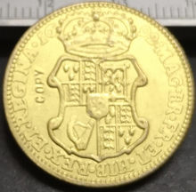 1692... Inglaterra 1 Guiné-William & Mary. 9999 puro Banhado A Ouro Copiar Coin(China)