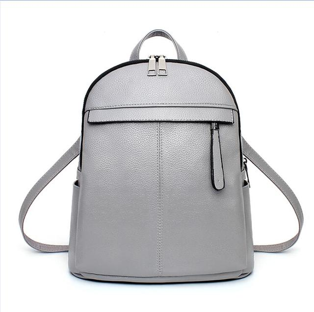49d1337bf8c US $36.86 |Women Backpack High Quality PU Leather School Bags Teenager  Girls Pink Fashion Travel Bag Mochila ladies Top handle Backpack-in  Backpacks ...