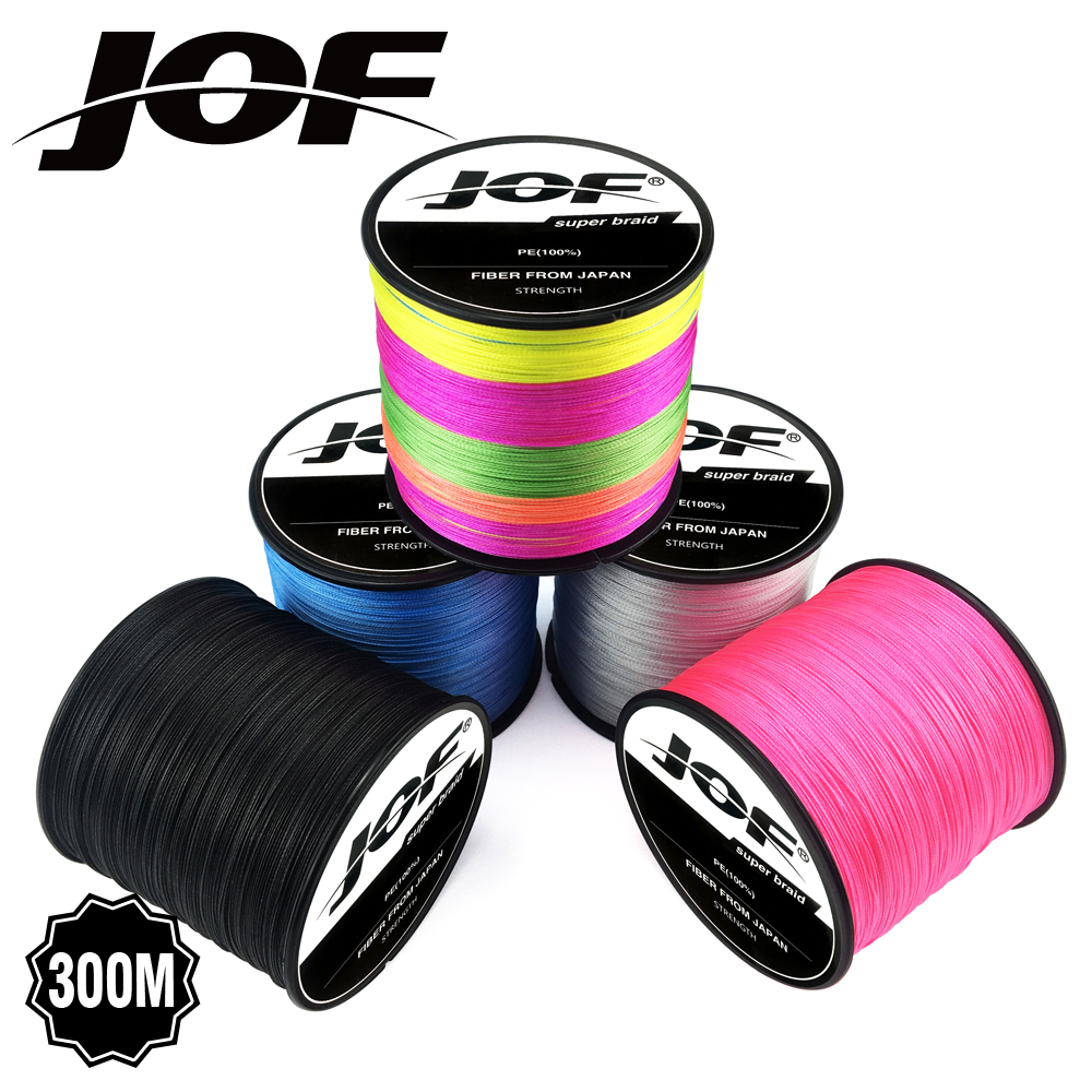 JOF Fishing Line 8 Strands 300M 12LB-78LB PE Braided Fishing Line Sea Saltwater Carp Fishing Weave Extreme Strong Cord