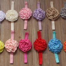 20 штук 8 см проката атласной ткани Розы ободки для девочек, оголовье цветы, ободки, 21 цвет на выбор