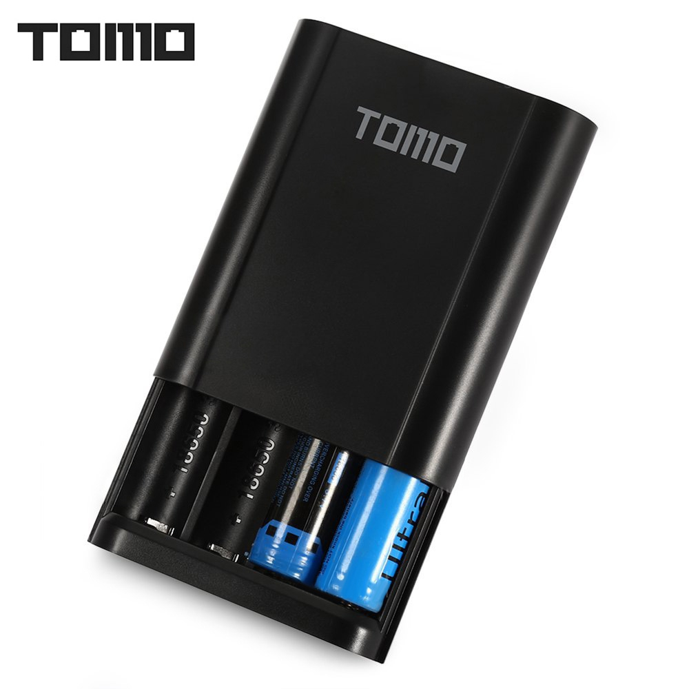 TOMO T4 DIY Power Bank Battery Charger 5V LCD Screen Power Bank Capacity Case for Cell Phone / 18650 Li-ion Battery (NO Battery)