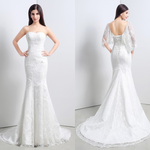 Sweetheart Neckline Lace Mermaid Wedding Dresses New 2019: 2019 New Arrival High Quality Mermaid Wedding Dress 100