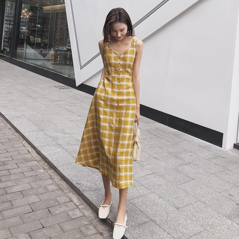 2019 Evening Party Beach Dress Sleeveless V Neck Long Belt Slim Dress
