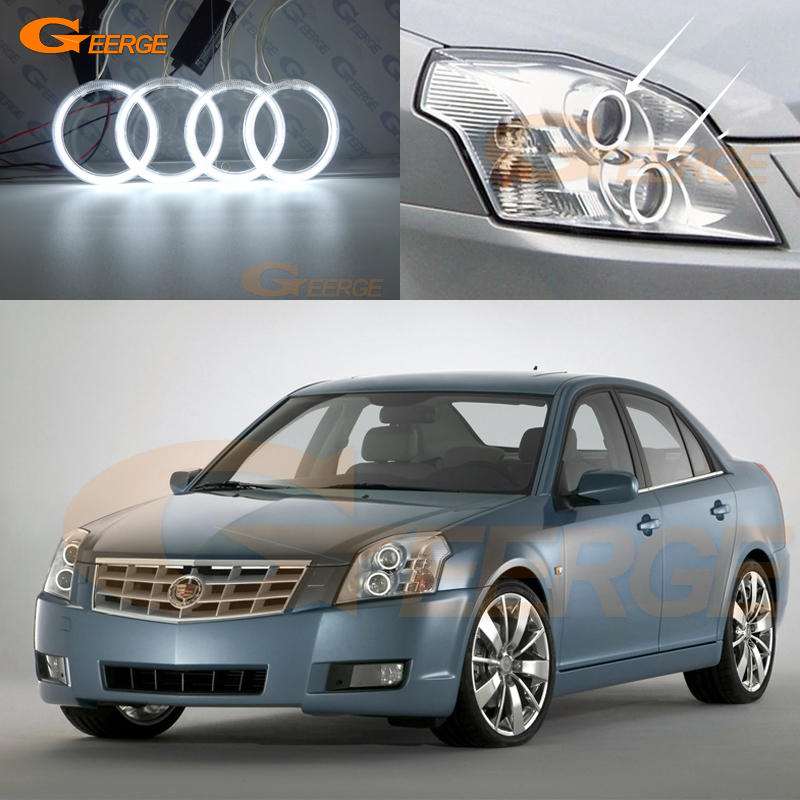 For Cadillac BLS 2006 2007 2008 2009 2010 Excellent angel eyes Ultra bright illumination CCFL Angel Eyes kit Halo Ring for alfa romeo 147 2005 2006 2007 2008 2009 2010 excellent angel eyes ultra bright illumination smd led angel eyes halo ring kit