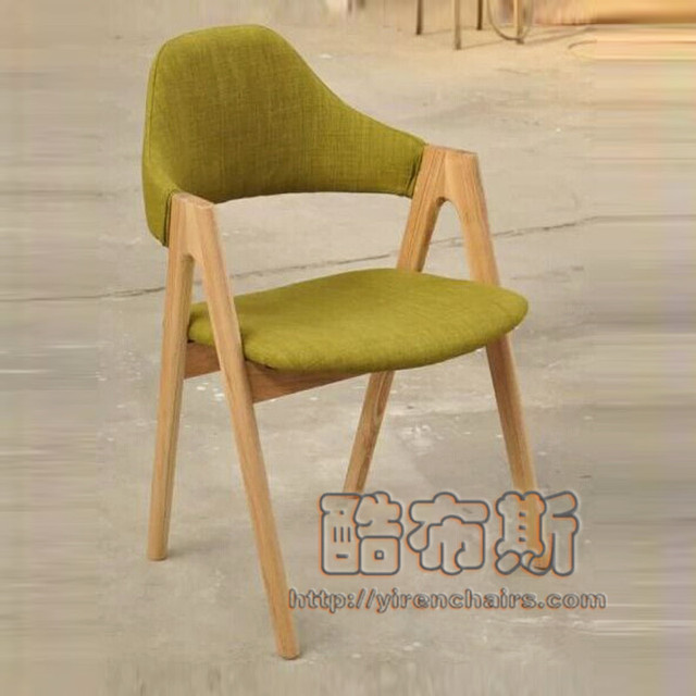 Scandinavian Style Wooden Chair Dining Chair Fabric Quality Stylish  Minimalist Restaurant Matching Chairs High Chairs