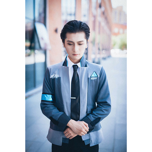 Image 2 - ROLECOS Game Detroit Become Human Cosplay Costumes Connor RK800 Suit Uniform Jacket Shirt Tie for Men Party Cosplay Clothes