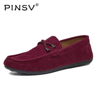 Suede Leather Shoes Men Loafers Mocassim Men Casual Shoes Italian Summer Shoes Men Flats Sapato Masculino