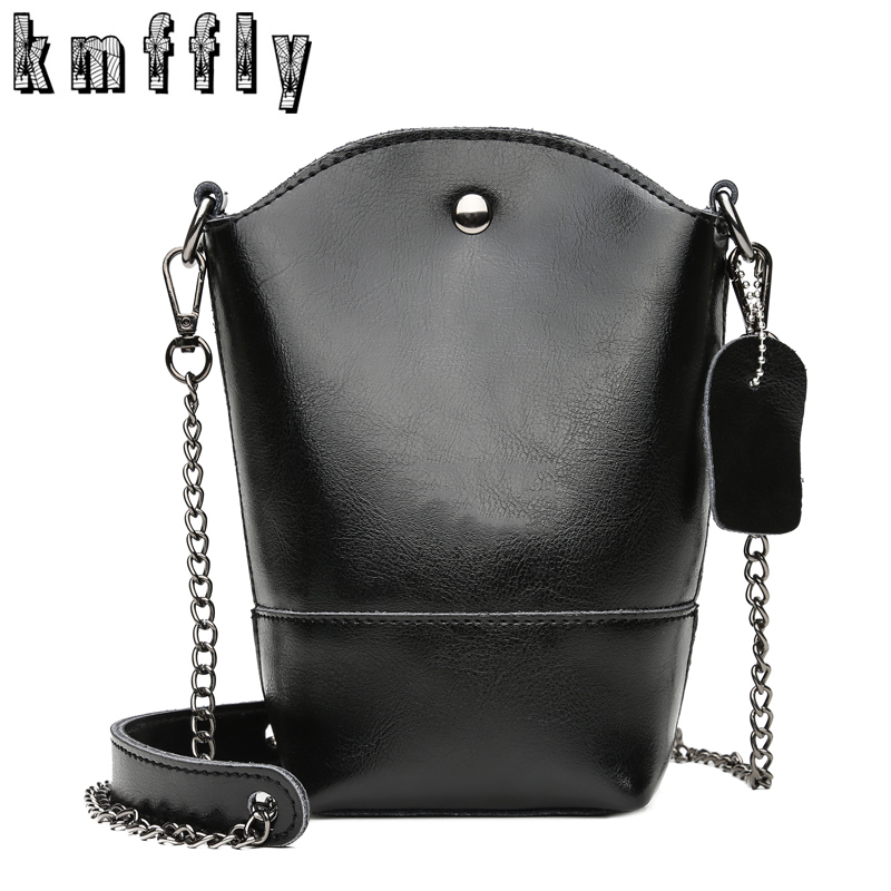 KMFFLY Brand Genuine Leather Small Shoulder Bag High Quality Chains Messenger Bags Crossbody Bags for Women 2018 Sac A Main zooler brand genuine leather shoulder bags for women casual messenger bag ladies small cowhide leather crossbody bags sac a main