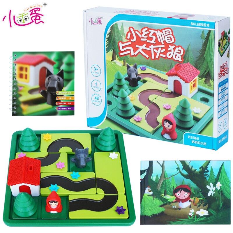 Candice guo! Jouet en plastique éducatif loup petit chaperon rouge la pensée logique early learning game jouer enfants cadeau d'anniversaire 1 p