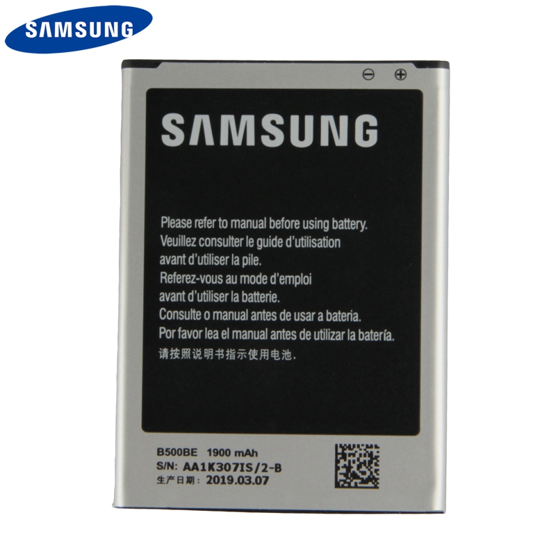 Original Samsung Battery B500BE For Samsung GALAXY S4 Mini I9190 I9192 I9195 I9198 S4Mini Genuine Battery With NFC 4Pins 1900mAh in Mobile Phone Batteries from Cellphones Telecommunications