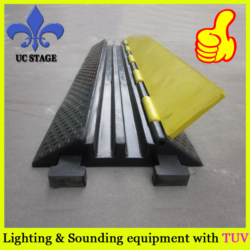 Durable 2 Channels Outdoor Cable Ramp Cable Cover Wire Protector Cable Ramp