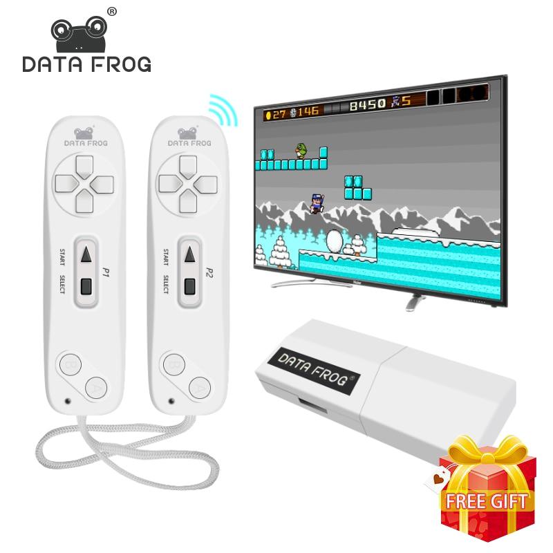 Dados USB Sapo Handheld Consola TV Jogo de Vídeo Sem Fio Construir Em 620 Clássico 8 Pouco mini Game Console Gamepad Dual saída AV