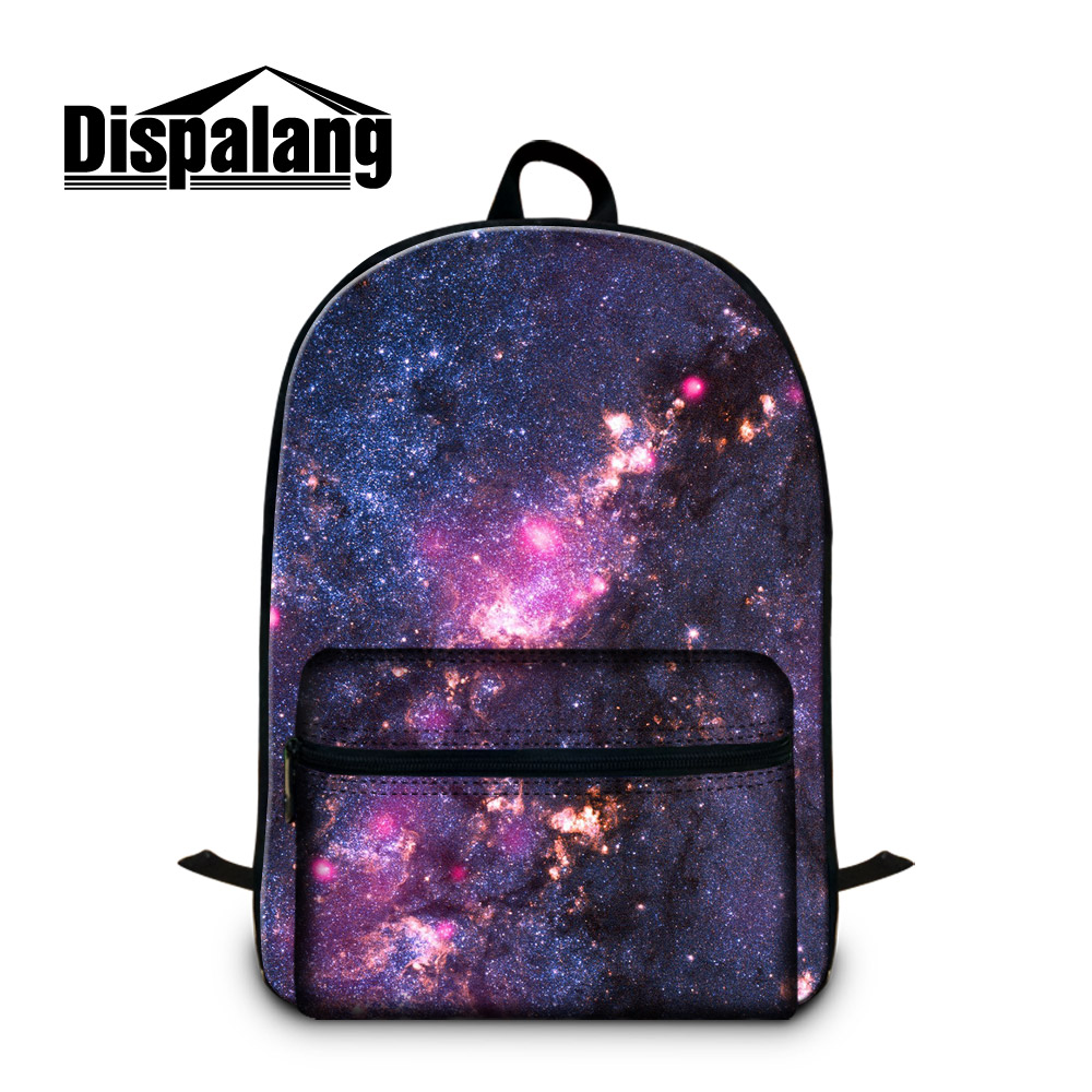 School Backpacks Patterns Galaxy Laptop Back Pack for 14