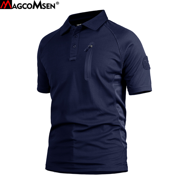 MAGCOMSEN T-shirts Men Summer Short Sleeve Quick Dry Tactical Tshirts Breathable Military Army Tshirt Male Clothing