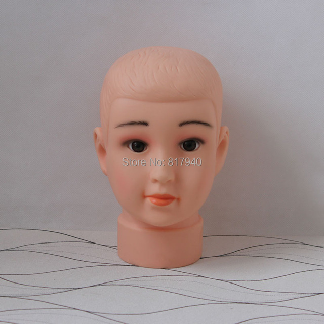 New Arrival!High quality Unbreakable Realistic Plastic kid child  mannequin dummy head for hat display manikin heads