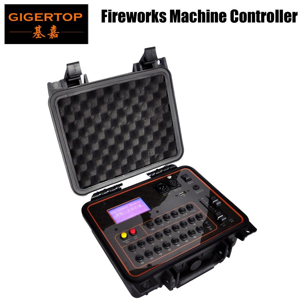Gigertop LCD Display Cold Fireworks Program Controller DMX512 Wireless Remtoe Control Fountain Stage Effect Sparkler Machine