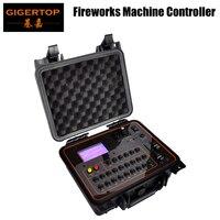 Gigertop LCD Display Cold Fireworks Program Controller DMX512/Wireless Remtoe Control Fountain Stage Effect Sparkler Machine