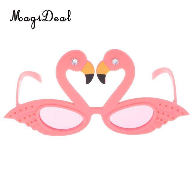 MagiDeal Hawaiian Tropical Flamingo Sunglasses Summer Beach Party ...
