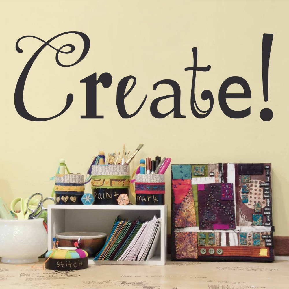 popular create wall decals buy cheap create wall decals lots from create study room wall decals creative quotes vinyl wall stickers for kids room bedroom decor