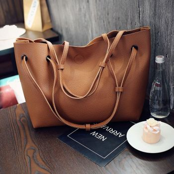 Women PU Leather Shoulder Messenger Bag Tote Purse Handbag Crossbody Satchel Hot, Brown fashion women pu leather shoulder bag messenger satchel tote purse handbag crossbody bags bs88 page 2
