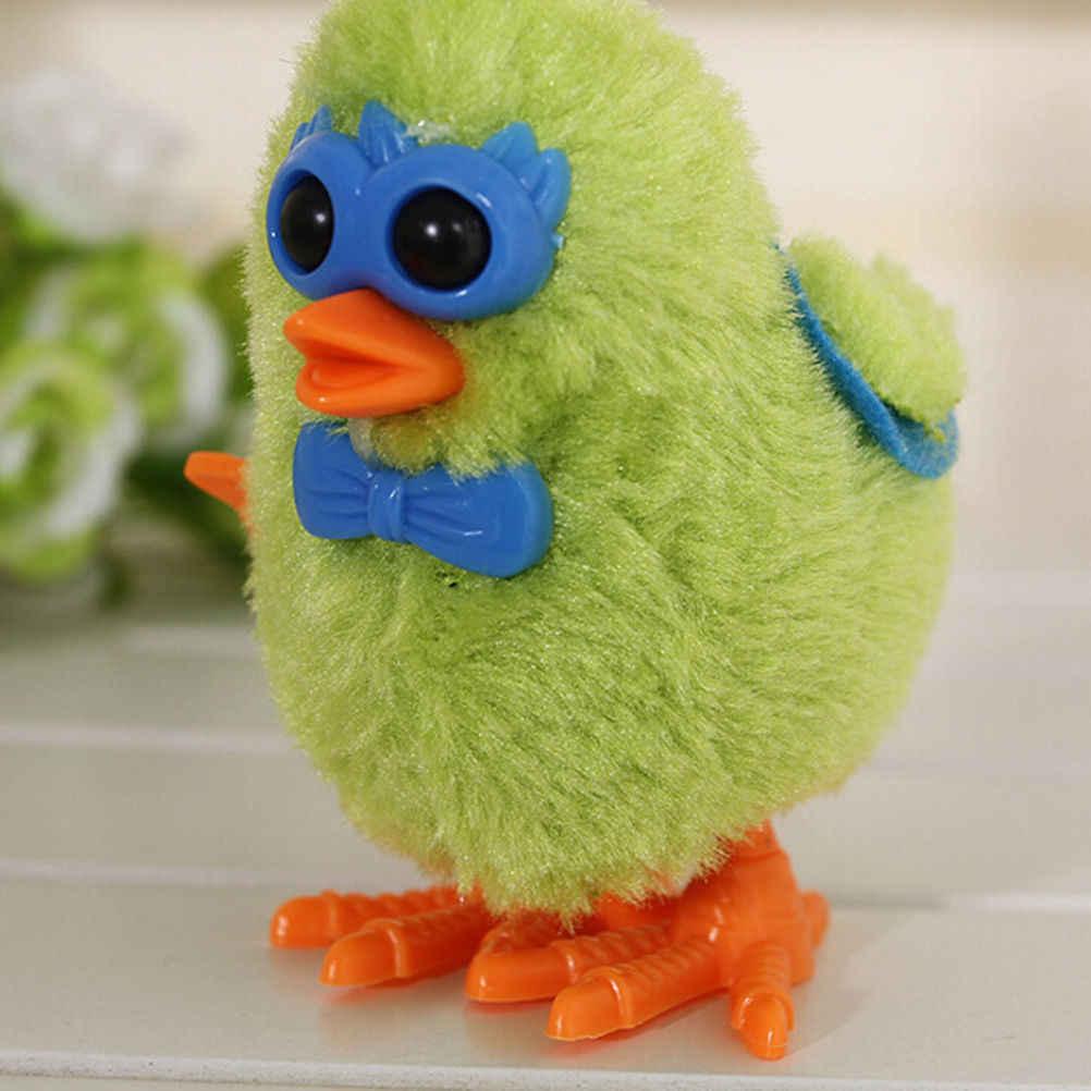 1 pcs Plastic Bonito Frango acabar brinquedos Brinquedos Educativos Para Crianças Kawaii Cadeia Será Executado Em Um Relógio cor Aleatória