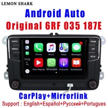 Autoradio Android Auto/Carplay (RCD 330G/330 Plus, R340G, 6RF 035 187E), pour voiture VW Golf 5/6, Jetta MK6 CC, Tiguan, Passat, Polo