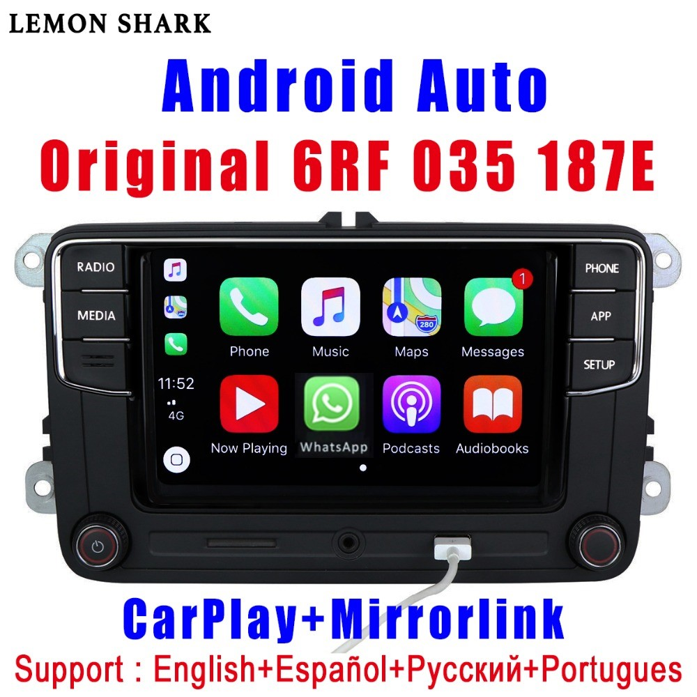 RCD330 Plus RCD330G Carplay R340G Android Auto Voiture Radio RCD 330g 6RF 035 187E Pour VW Golf 5 6 jetta MK6 CC Tiguan Passat Polo