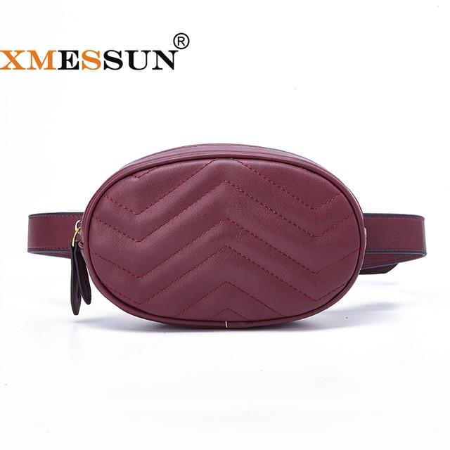 XMESSUN 2018 Fanny Pack Women Belt Bag Leather Waist Bag Fashion Women's Pure Color Ring PU Messenger Shoulder Chest Bag