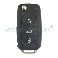 Remtekey Flip zdalnego klucz do samochodu VW Beetle Golf Jetta Eos Polo Tiguan 2011-2013 HU66 ID48 434 Mhz 202AD 3 przycisk 5K0 837 202 AD