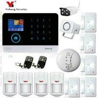 YobangSecurity WIFI 3G Kablosuz Alarm Sistemi Android/IOS Telefon APP Uzaktan Kumanda Ev Güvenlik Sistemi Açık IP kamera