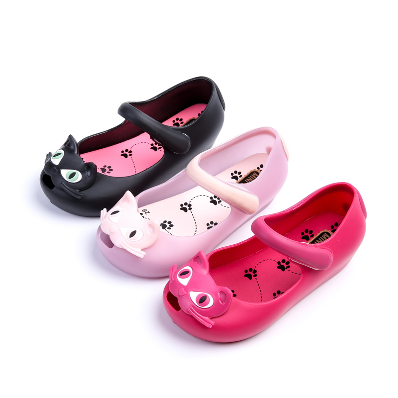 2017 Kids Shoes Girls New Baby Rubber Mini Melissa Cute Bow girls Sandals Children shoes cat