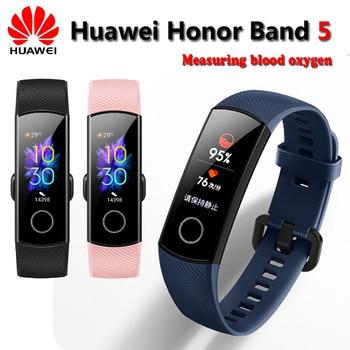 Original Huawei Honor Band 5 Smart Wristband Oximeter Magic Color Touch Screen Swim Stroke Detect Heart Rate Sleep Nap